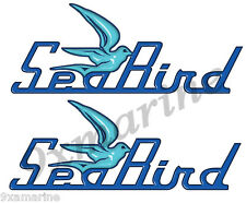 Two Sea Bird Decals - 10 inch long set. Old Style Replica name plate in vinyl