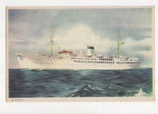 M/S Saga Swedish Lloyd Vintage Shipping Postcard 674a