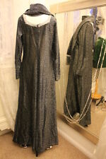 Shampers silver metallic party maxi lurex dress - Ditsy Vintage 14 16 1970s