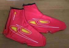 OVERSOCKS CYCLING GIST LYCRA color RED-YELLOW WITH ZIPPER one size