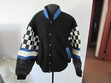 Burk's Bay Checkered Flag Racing NASCAR Leather Jacket Men's XXL