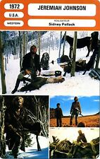 Fiche Cinéma. Movie Card. Jeremiah Johnson (USA) 1972 Sidney Pollack