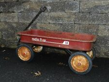 VINTAGE CLASSIC RED RADIO FLYER WAGON # 18 STEEL VERY HEAVY