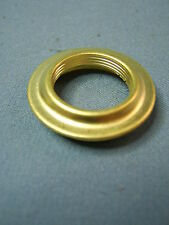 Victorian Solid Brass No 2 size to No 1 size Reducing Collar for Oil Lamp Burner