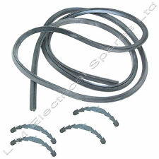 Belling 4 Sided Oven Cooker Rubber Door Seal 2.1m To Fit Rounded Corners Clips