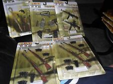5 LOT SETS DRAGON WWII 1/6 SCALE GERMAN ANTI TANK WEAPON A MP40 MP44 KAR-98K