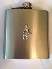 Mermaid PP-G06 english pewter 6oz Stainless Steel Hip Flask