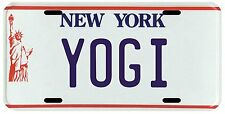 Yogi Berra New York Yankees Metal NY License plate