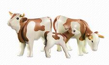 YRTS 6356 Playmobil 2 Vacas con Ternero ¡Nuevo en Bolsa! ¡New!