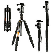 K&F Pro Camera Tripod Stand & Monopod for Canon Nikon Sony 360 Degree Ball Head