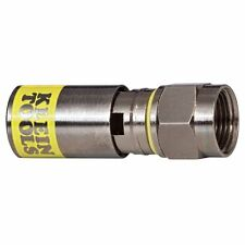 Klein Tools VDV812-612 Universal Compression Connector, RG6/6Q, Male (50Pk)