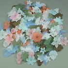 100g Acrylic Frosted Lucite Flower Leaf Beads Mix - Jewellery Making & Craft