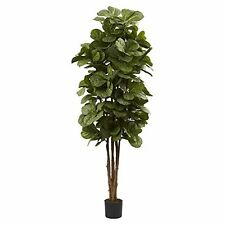 Nearly Natural 5346 6 ft. Fiddle Leaf Fig Silk Tree