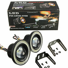 "2pcs 3.5"" LED Fog Light Projector Car Lamp Super White Angel Eyes Halo Ring DRL"