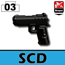 Defender (W66) .45 pistol compatible with toy brick minifigures Army SWAT