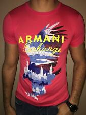 ARMANI EXCHANGE T SHIRT BODY TIGHT SLIM FIT CORAL SMALL EXCLUSIVE