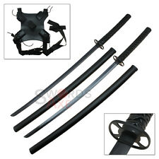 Steel Twin Katana Dead Assassin Double Shoulder Strap Ninja Pool Swords Set