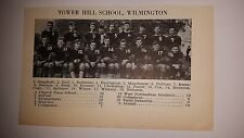 Tower Hill Wilmington High School Delaware 1927 Football Team Picture