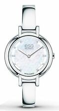 ESQ Movado 07101405 New Women Contempo Diamond Accent Bangle Swiss Quartz Watch