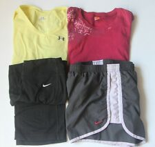 Womens Small Lot of 4 Athletic Lucy Under Armour Nike Shirt Shorts Pants Running