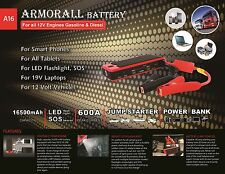 ARMORALL A16 SUPREME JUMPSTART BATTERY SIMILAR TO POWERALL NEW FREE SHIPPING