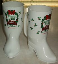 VTG Christmas at Dixie Stampede Plastic Mug~Cowboy Boots~Pigeon Forge TN~Attract