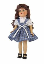 "Vintage Styled Blue Plaid Doll Dress Clothes fits 14"" P-90 Toni Dolls"