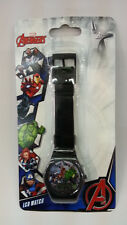 MARVEL AVENGERS SUPERHERO BLACK KID DIGITAL LCD WATCHES 100% ORIGINAL MUST L@@K