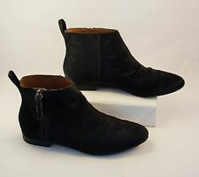 Gap Black Leather Calf Hair w/ Zipper Ankle Boots Booties Women's Size 8 Shoes