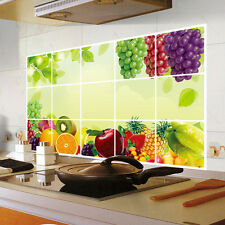 Kitchen Oilproof Wall Fruits Stickers Dining Room Vinyl Decor Decal Removable