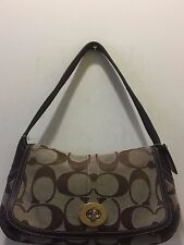 COACH C SIGNATURE VINTAGE ERGO JACQUARD FLAP SHOULDER BAG E0782-11257