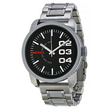 Diesel Black Dial Stainless Steel Mens Watch DZ1370