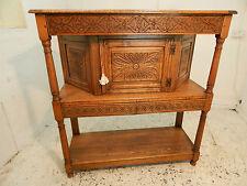 oak,cupboard,hall cupboard,carved,columns,drawers,kitchen,oak court cupboard