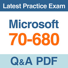 Microsoft Practice Test TS: Windows 7, Configuring 70-680 Exam Q&A PDF