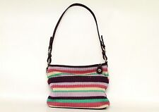 The SAK Purple Striped Knit Shoulder Bag Purse