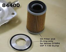 TRIUMPH T140 T120 OIF & BSA 250 OIL FILTER with O-RING. MOTAO SUMP PLATE USE