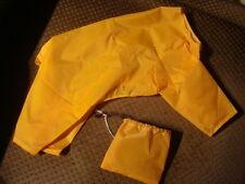 """READ LISTING Yellow cagoule waterproof raincoat/bag 13"""" back pet onesie unisex"""