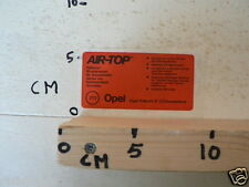 STICKER,DECAL OPEL REKORD D II,COMMODORE AIR-TOP