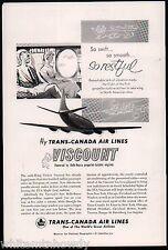 1955 TRANS-CANADA Air Lines Vickers Viscount Aircraft AD