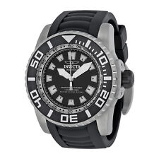 Invicta Pro Diver Black Dial Black Polyurethane Mens Watch 14660