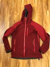 Men's Arcteryx Scorpion Jacket Hoody Medium Goretex Recco Maroon and Red $500