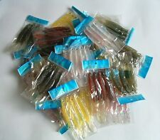 """400 NEW Soft Plastic Fish Worm Fishing Lures Bait 4.75"""" wholesale lots lure"""