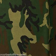 Army Camouflage Fabric PolyCotton Fabric By The Yard 60 Wide Cotton Broadcloth