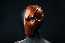 Fully Finished, Painted Deathstroke Arkham Origins Mask with Backplate & Straps