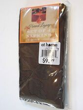 Four 18 Inch Brown Fall Leaves Polyester Co Napkin Table Autumn Decorations