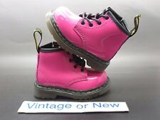 Girls' Dr. Martens Brooklee B Hot Pink Toddler Patent Leather Boots sz 4