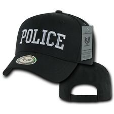 Black Police Officer Law Enforcement Cop Cotton Baseball Ball Cap Hat Caps Hats