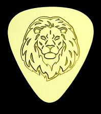 LION - Solid Brass Guitar Pick, Acoustic, Electric, Bass