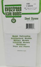 "Evergreen Sheet Styrene 4080 - V-Groove - 080"" Spacing (2.0mm) - 040"" Thick"