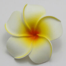 2 pieces Hot White NEW Foam Floating Frangipani/Plumeria/Hawaiian Flower Head